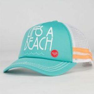 Two roxy trucker hats.